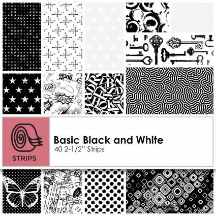 Patrick Lose - Basically Black+White Charm Square