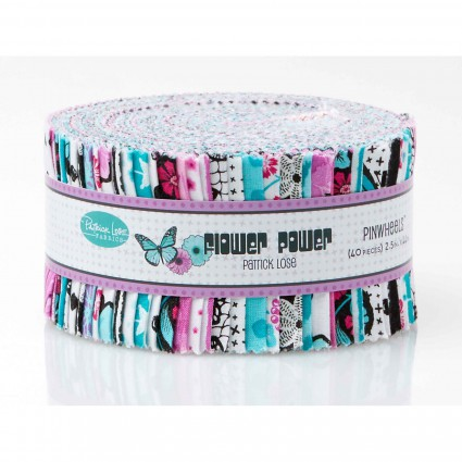 Flower Power 2 1/2 Strips Aqua Patrick Lose