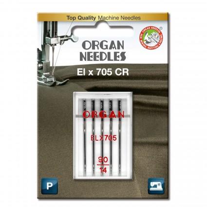 ORGAN NEEDLES 5 PACK ELX705CR 90/14