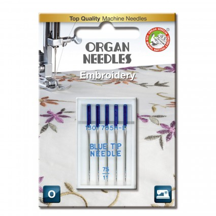 Organ Needles Blue Tip 75/11 5ct