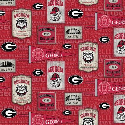 Georgia Bulldogs Vintage Pennants<br/>Sykel Enterprises GA-1267