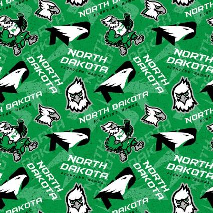 UND Fighting Hawks Logo Tone on Tone ND1178