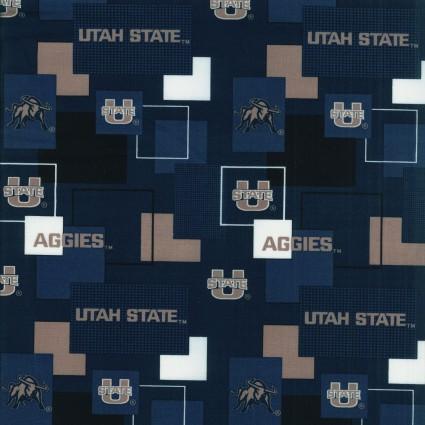 Utah State University Cotton Print2
