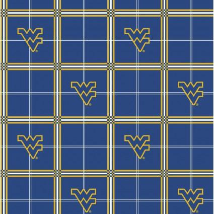 West Virginia University Blue Plaid Flannel