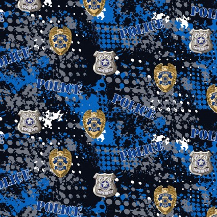 Police Badges blue/black