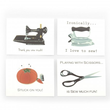 Sewing-Themed Note Cards