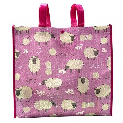 Stitch and Knit Sheep Tote Bag