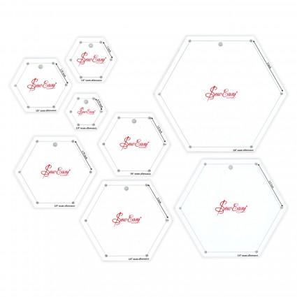 Hexagon Template Set - 8 pcs