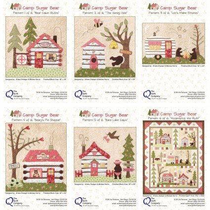 Camp Sugar Bear Block of the Month patterns by The Quilt Company