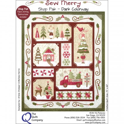 The Quilt Company Sew Merry Fabric Accessory and Button Accessories Packet