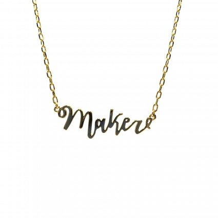 Maker Necklace - gold