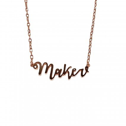 Maker Necklace - rose gold