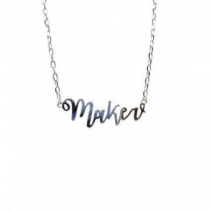Maker Necklace - silver