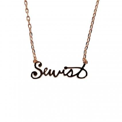 Sewist Necklace - rose gold