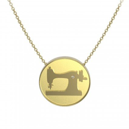 The Quilt Spot Sewing Machine Coin Pendant
