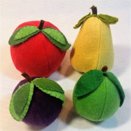 Wooly Fruit Cushions