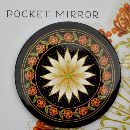 Melba Pocket Mirror Black