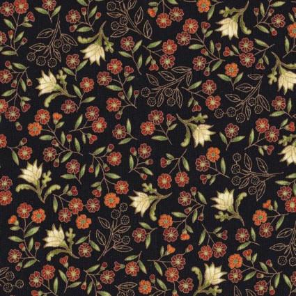 Melba sm. Flowers on Black
