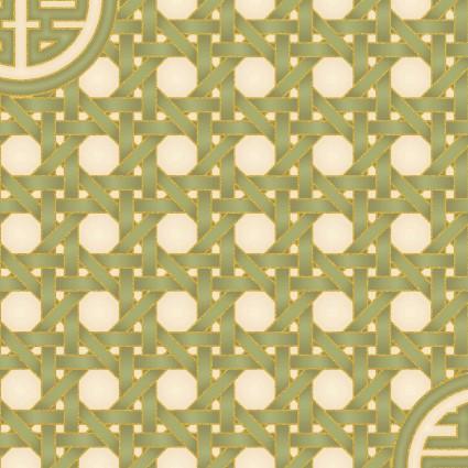 Summer Palace Metallic gold - green