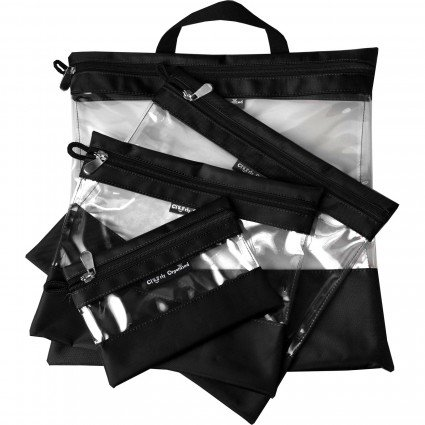 Black Clearly Organized Clear Bag Set
