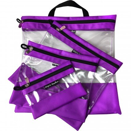 Clearly Organized Clear Bag Set - Purple