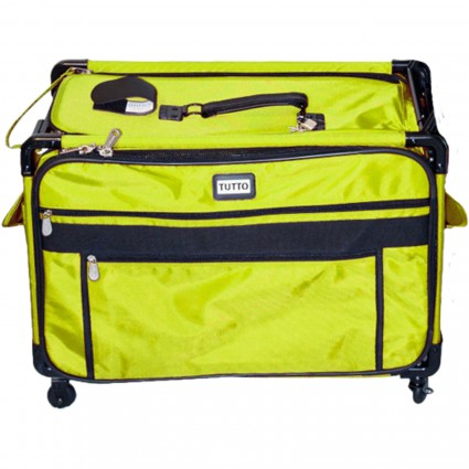 Machine Tote with Wheels Lime