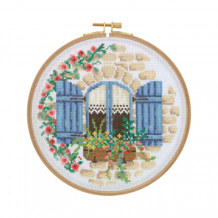 Cottage Window Cross stitch Kit