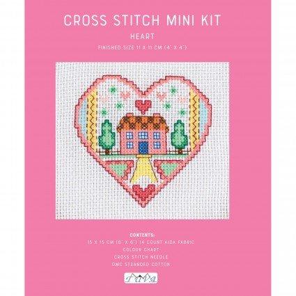 Mini Cross Stitch Kit Heart