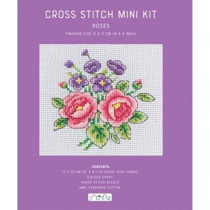 Mini Cross Stitch Kit - Roses