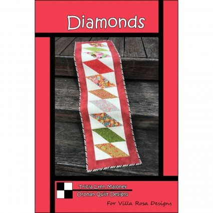 Diamonds - Villa Rosa - Table Runner - 12x 45 - 5 Charm Friendly