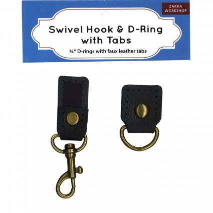 Swivel Hook & D Ring With Tabs