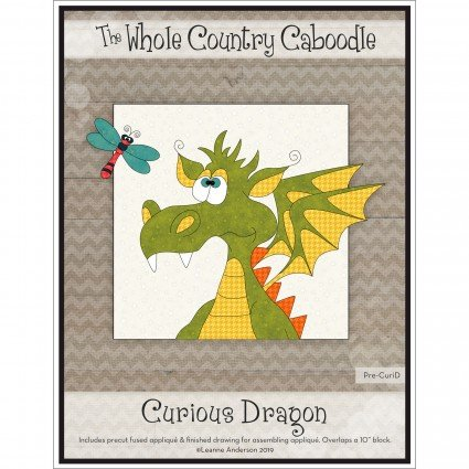 Curious Dragon Precut Fused Applique Pack