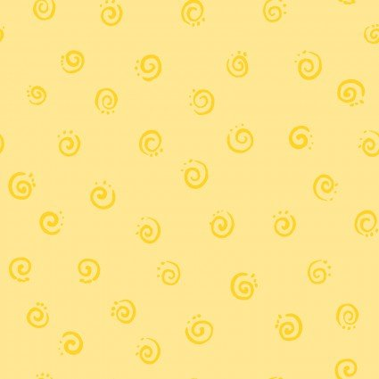 Squiggles Fat Quarter - Yellow by Susybee