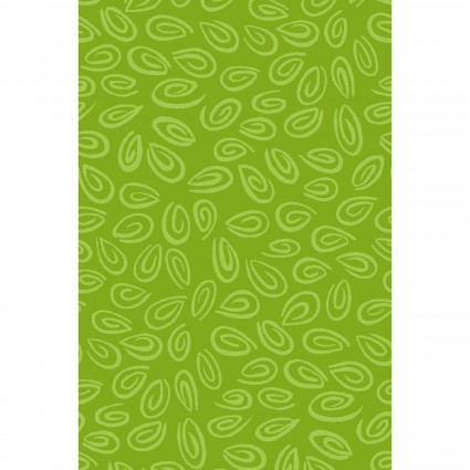 Swirls Fat Quarter - Bright Green by Susybee
