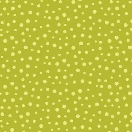 Barnyard Buddies -- 20171-845  Irregular Dots Chartreuse/Lime