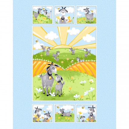 Hildy the Goat kit with backing & binding