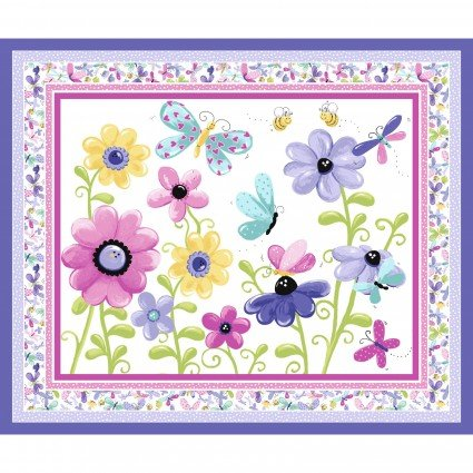 Susybee - Flutter the Butterfly Lilac/Multi 36 Panel SB20310-620