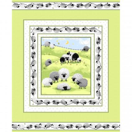Susybee Lewe The Ewe Green Quilt Panel 20330-810