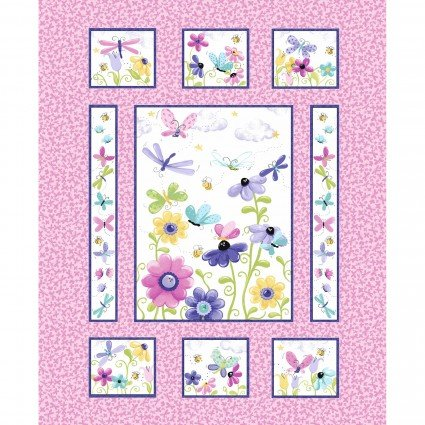 Flutter the Butterfly Panel -- Pink/Multi  SB20340-520
