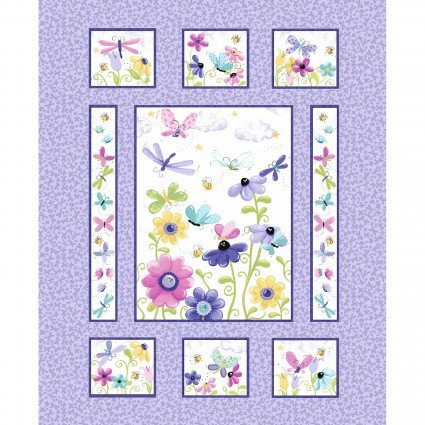 Flutter the Butterfly Panel -- Lilac/Multi  SB20340-620