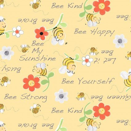 Sweet Bees - Yellow w/words