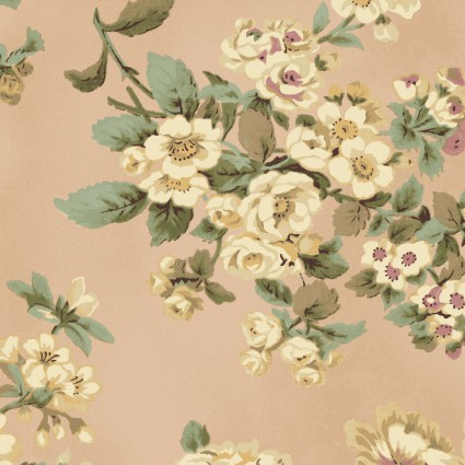 Antebellum Period Large Flowers Pink