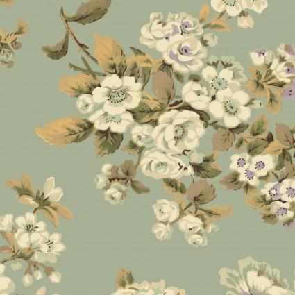 Antebellum Period Large Flowers Sage