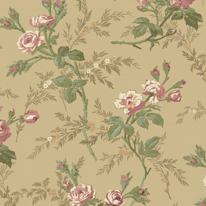 Antebellum Period Tan Flowers