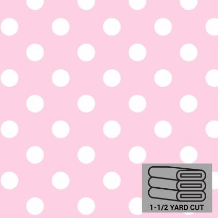 Pink/White Dot Anti-Pill Fleece 54 x 60