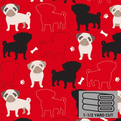 Red Puppies Anti-Pill Fleece 54 x 60