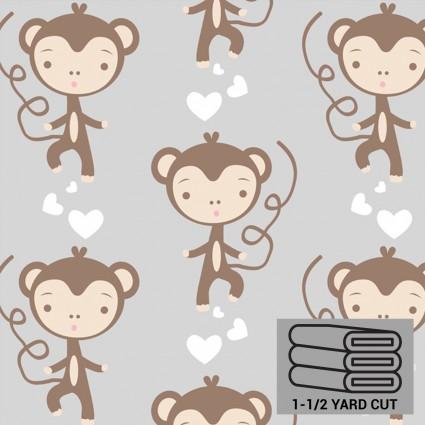Grey Monkeys Anti-Pill Fleece 54 x 60