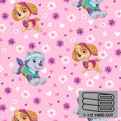 Paw Patrol Pink Heavenly Plush Fleece 54 x 60