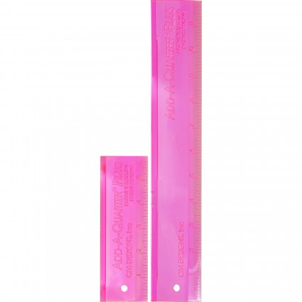 Add A Quarter Plus Ruler Combo - Pink