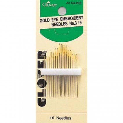 Gold Eye Embroidery Needles - Clover